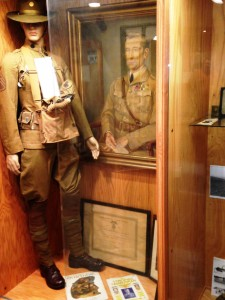 WWI SSG Knapp and BG H.L. Opie Exhibit Case