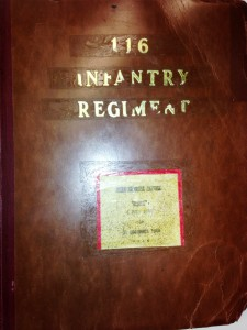 "This Orginal Document is the 116th Infantry's unit History Reprot for ""D-Day"" dated December 1944"