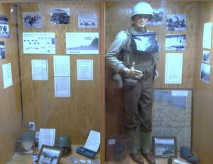 WWII D-Day Exhibit Case - Omaha Beach