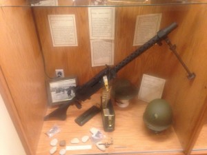 US .30 Cal Model 1919A6 Machine Gun a WWII replica was added to our D-Day Exhibit in Jan 2014.