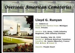 Lloyd G Runyaan