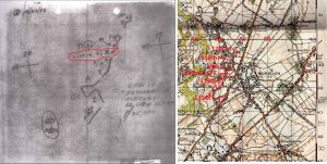 Front line trace Oct 22 1944